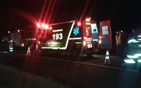 Resgate foi acionado, mas vítima morreu na hora em Olímpia (Foto: Julião Pitbull/Olímpia 24 horas).