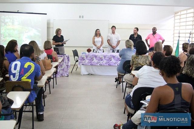 Equipe da Educação do Governo de Andradina recepciona 38 novos professores da Rede Municipal de Ensino aprovados em concurso público. Foto: Secom/ Prefeitura