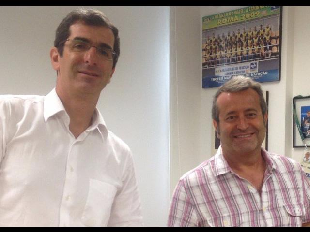 Andradinense Ricardo Prado (dir.), assumiu como novo coordenador geral da esportes da CBDA. Foto: CBDA/Divulgação