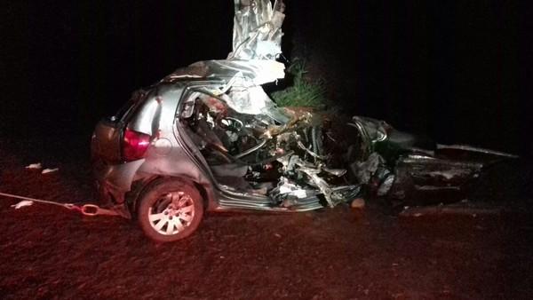Pais de Rafael Longuine morreram em um acidente perto de Alto Paraná (Foto: PRF/Paraná).