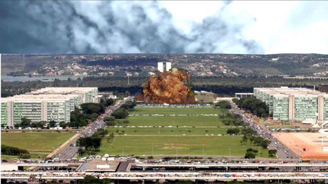 Uma bomba atingiu Brasília com a delação do grupo JBS. Foto/montagem: aperoladomamore.net