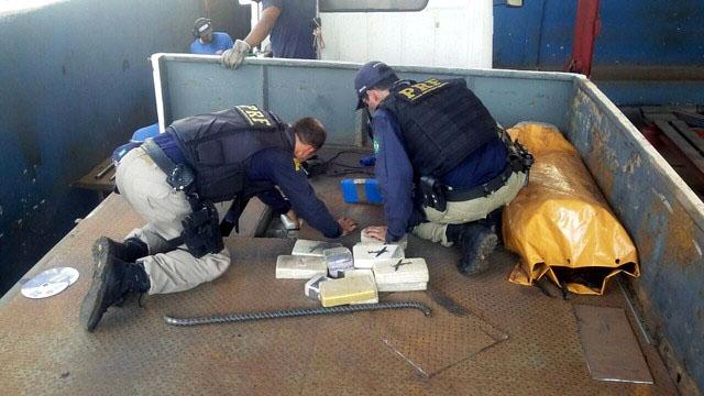 A droga transportada era na versão cloridrato ou hidrocloridrato de cocaína- Foto: Divulgação
