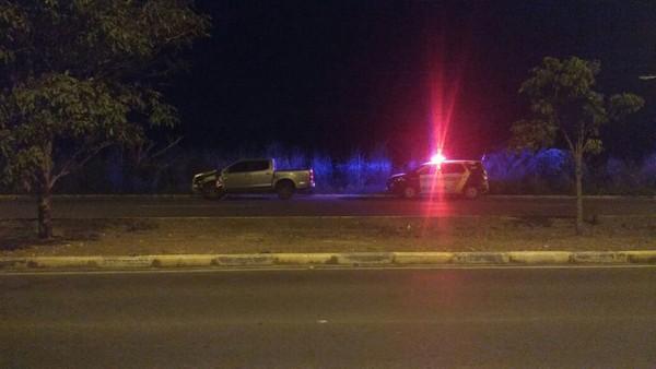 Motorista morreu atropelado por caminhonete enquanto abastecia carro na Avenida das Torres, em Cuiabá (Foto: Arquivo pessoal).