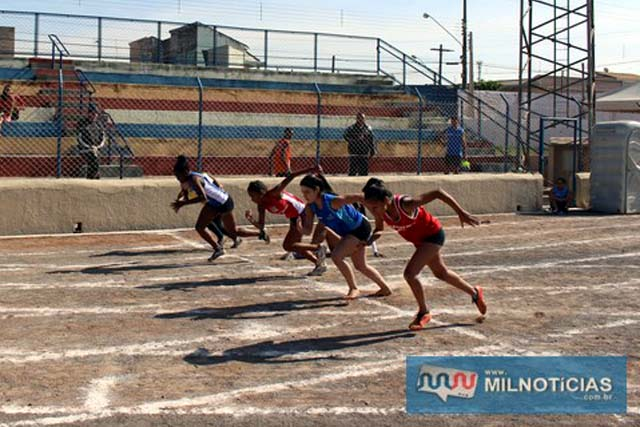 Prova feminina dos 100 metros rasos. fotos: Manoel Messias/Mil Noticias