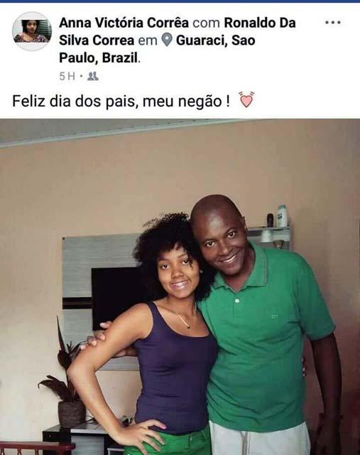 Por ironia do destino, filho havia postado em redes sociais uma homenagem ao pai. foto: Reprodução/Facebook