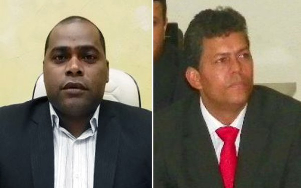Vereadores Edimar Batista de Oliveira e Valmir dos Santos (Foto: Reprodução/Câmara Municipal)
