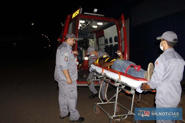Operário do frigorífico sofreu grave contusão no nariz e escoriações leves pelo corpo. Foto: MANOEL MESSIAS/Agência