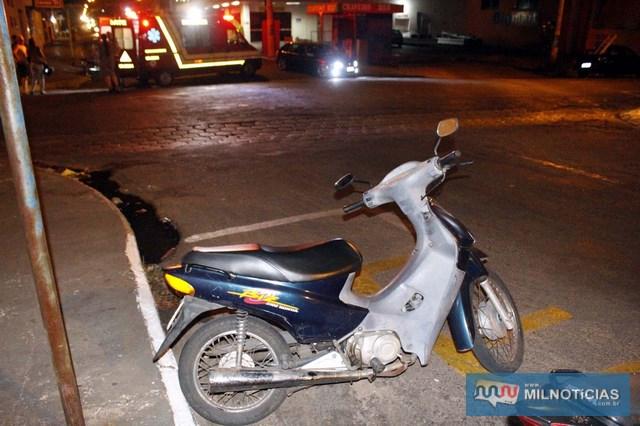 Motoneta Biz sofreu pequenas avarias. Foto: MANOEL MESSIAS/Agência
