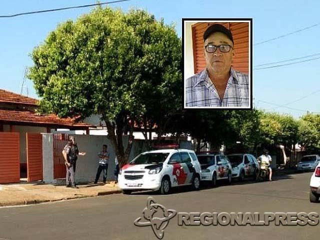 O crime ocorreu na casa das vítimas em General Salgado. No detalhe a foto do acusado de cometer os homicídios. (Regional Press)
