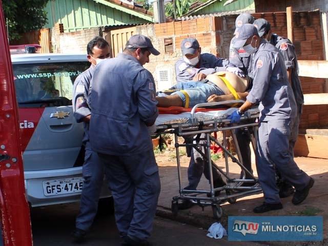 Quando socorrido pelos bombeiros, vítima já estava morta. Foto: MANOEL MESSIAS/Agência