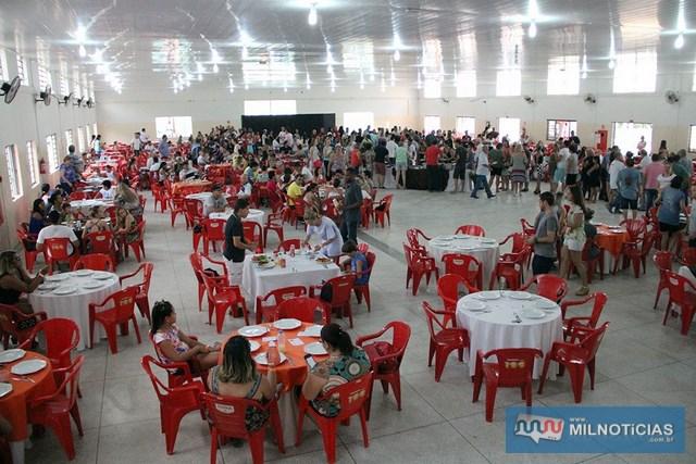 O almoço acontece em prol da campanha do Natal Solidário e terá show da dupla sertaneja Bruna Maia & Adriana. Foto: Secom/Prefeitura