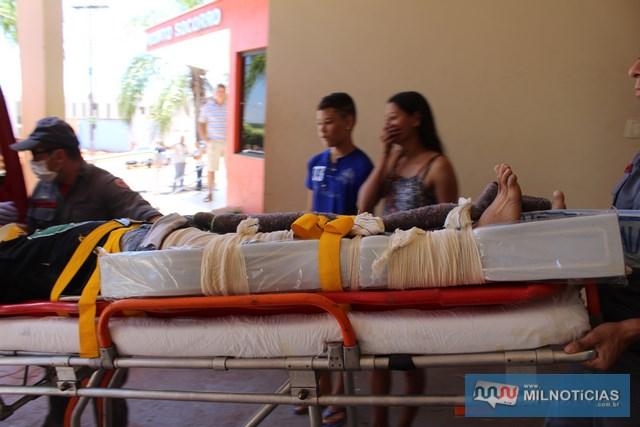 Janderson sofreu fratura do fêmur da perna direita, além de três costelas, permanecendo internado na Santa Casa local. Foto: MANOEL MESSIAS/Agência