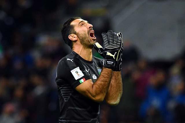 Buffon lamenta a Itália fora da Copa do Mundo de 2018 (Foto: Getty Images)