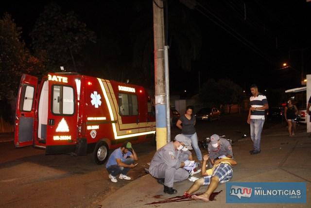 """Servente sofreu amputação do pé direito ao """"trombar"""" de frente com o Uno. Foto: MANOEL MESSIAS/Agência"""