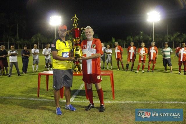 Fabricío Carvalho (esq.), organizador do evento e Adilson Geib, promotor do campeonato. Foto: MANOEL MESSIAS/Agência