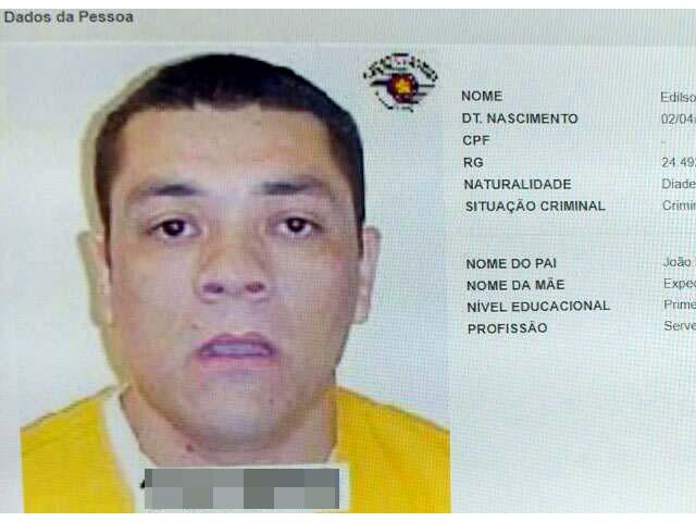 Edilson Borges Nogueira, o Birosca, de 44 anos, foi atingido por golpe de estilete na manhã desta terça-feira (5). Foto: Reproduação