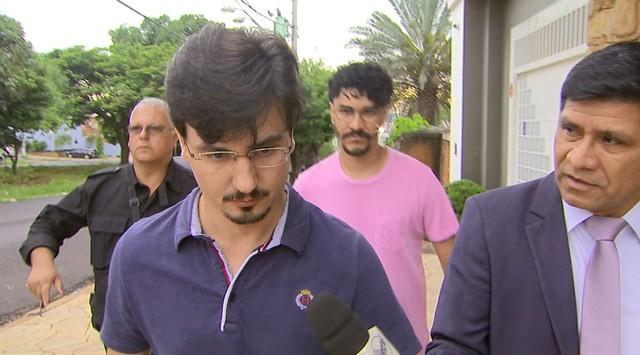 O advogado Ângelo Luiz Feijó, preso na Operação Têmis em Ribeirão Preto (Foto: Reprodução/EPTV)