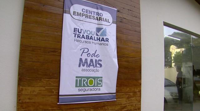 """Empresas """"Eu vou trabalhar"""" e """"Associação Pode Mais"""" são alvos da Operação Têmis em Ribeirão Preto (Foto: Reprodução/EPTV)"""
