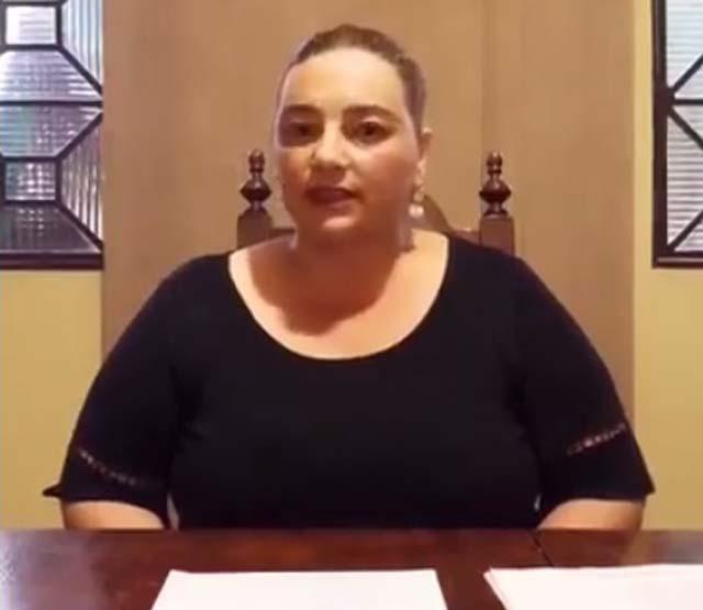Secretária de Saúde, Janini Nascimento, gravou um vídeo em redes sociais para esclarecimento dos fatos. Foto: Reprodução/video