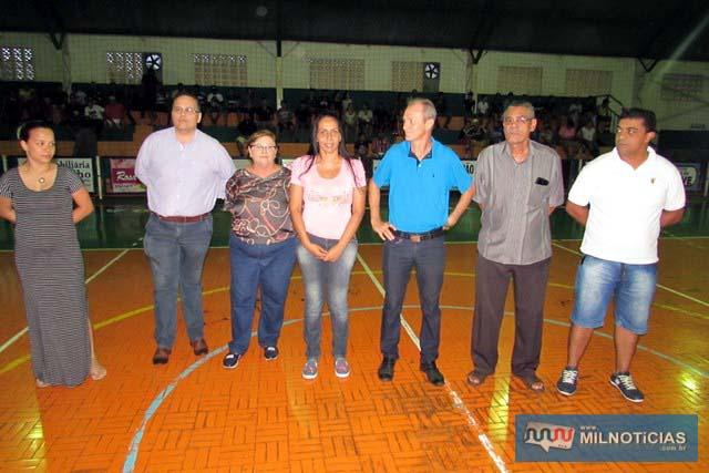 Autoridades politicas presentes na abertura do Futsal 2018. foto: Assessoria de Comunicação
