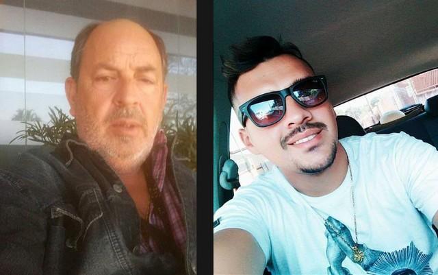 Orlando Moraes de Arantes (à esquerda) foi assassinado; o filho dele, Orlando Moraes de Arantes Júnior (à direita) foi encontrado ferido (Foto: Facebook/Reprodução).
