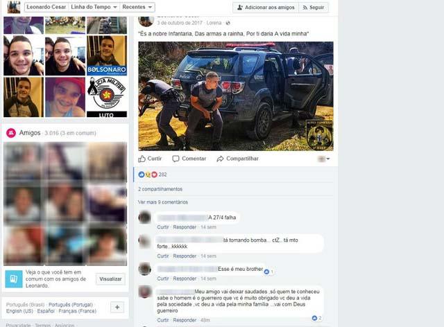 Leonardo postava declarações à polícia nas redes sociais (Foto: Reprodução/Facebook)