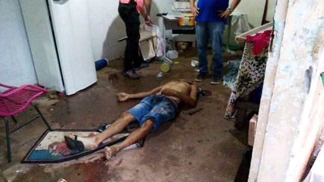 Gilberto Carvalho, de 41 anos, foi ferido mortalmente no tórax,   do lado esquerdo. Foto: Celso Daniel/Patrulhanews