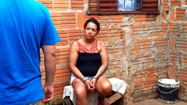 Danielly Vicente Azambuja, de 26 anos confessou que matou o marido. Foto: Celso Daniel/Patrulhanews