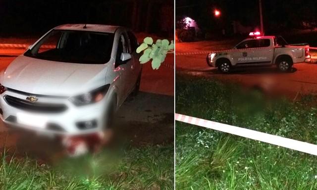 Uma vítima foi esfaqueada e outra baleada e atropelada (Foto: Corpo de Bombeiros/ Divulgação).