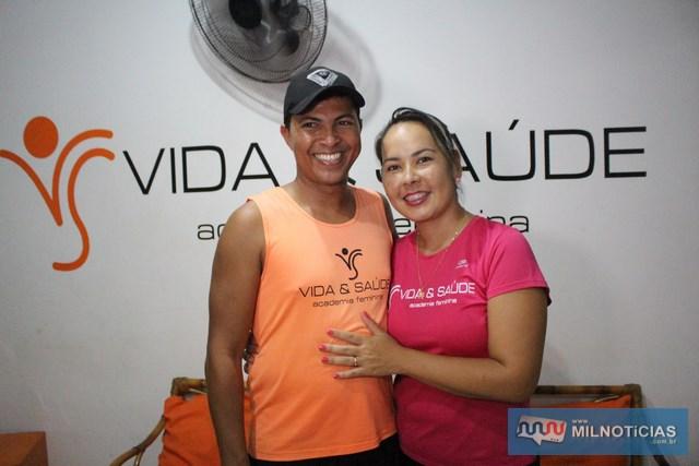 Eder Júnior e Grazieli Akemi Utida, proprietários da Academia Feminina Vida & Saúde. Foto: MANOEL MESSIAS