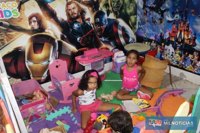 Crianças tiveram seu cantinho especial para brincarem. Foto: MANOEL MESSIAS