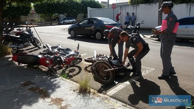 Motos estavam estacionadas em um bolsão localizado ao lado do clube Grecan. Foto: MANOEL MESSIAS/Agência