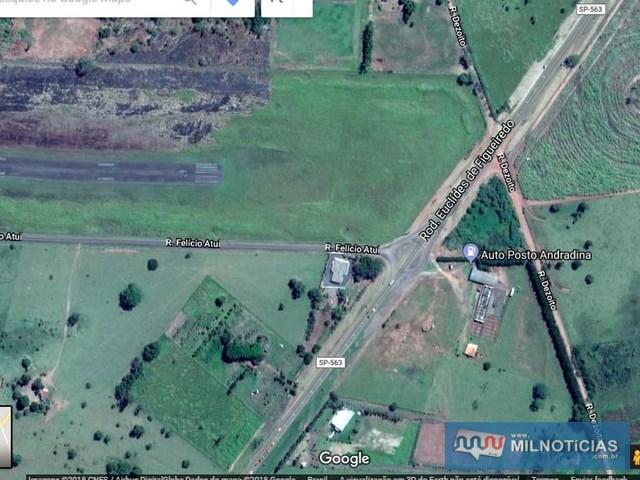 Chácara onde ocorreu a festa está localizada próximo do aeroporto de Andradina. Foto: Google.maps