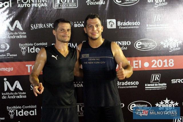 Marcinho Richardes (esq.), e Miller, farão a final da competição. Foto: MANOEL MESSIAS/Agência
