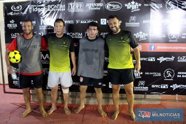A partir da esq., Lilique, Adalto, Allan e Flavinho. Foto: MANOEL MESSIASA/Agência