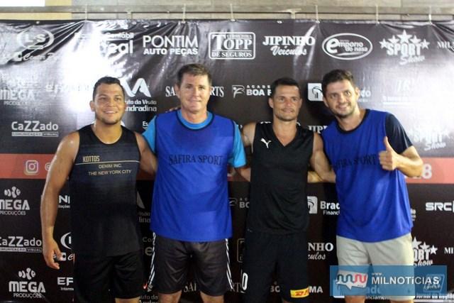 A partir da esq., Miller, Cré, Marcinho e Mardô. Foto: MANOEL MESSIAS/Agência