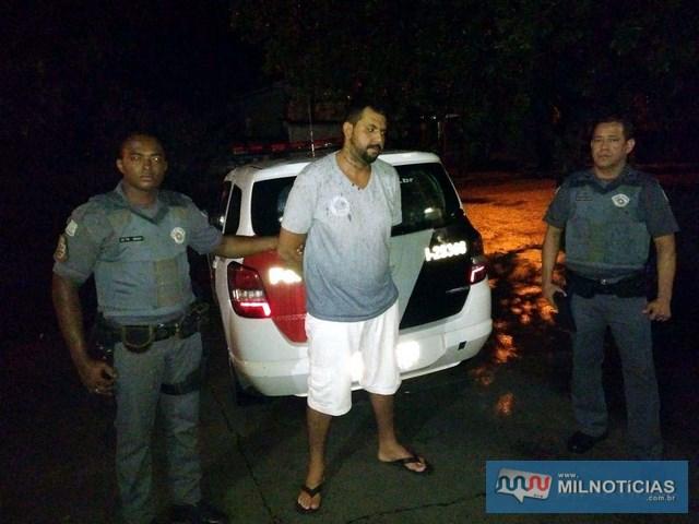 Pedrinho foi conduzido para o registro da ocorrência de procurado preso e permaneceu à disposição da justiça. Foto: DIVULGAÇÃO