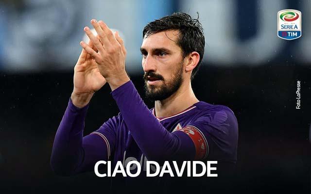 O capitão da Fiorentina, Davide Astori, de 31 anos, foi encontrado morto na concentração da equipe na manhã deste domingo. Foto: LaPresse