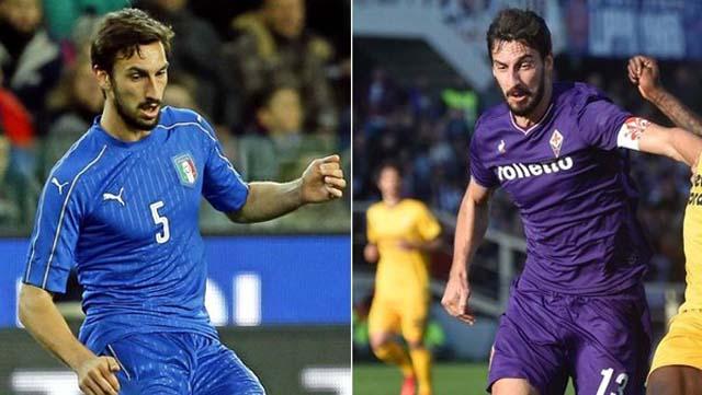 Astori em ação pela seleção italiana e Fiorentina (Foto: Marca.com)