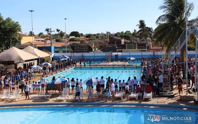 Festival de natação acontece neste sábado, 21, no ATC. Foto: MANOEL MESSIAS/Agência