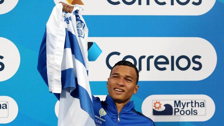 Nadador andradinense Marco Antônio Júnior. Foto: Ricardo Sodré/MTC