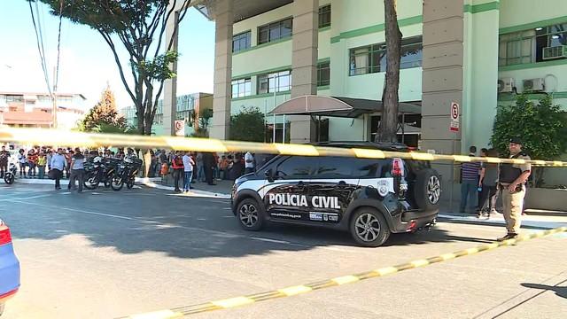 Mulher é assassinada na Câmara Municipal de Contagem (Foto: Reprodução/TV Globo)