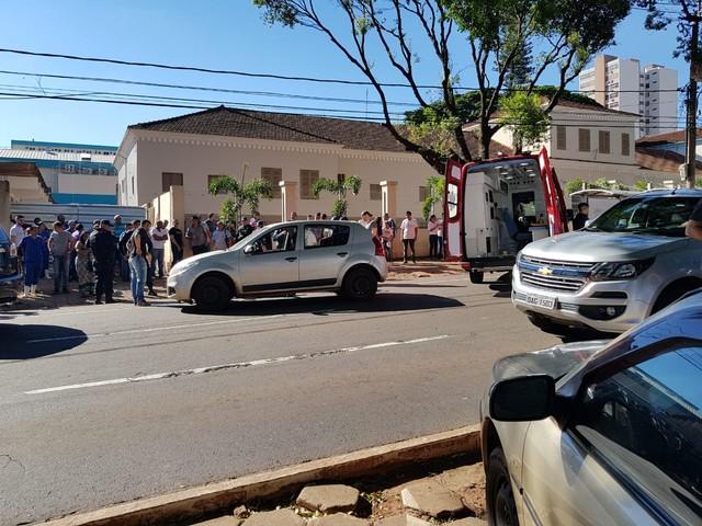 Assaltante é baleado após troca de tiros com policial em MS (Foto: Daniel Mendes/Arquivo Pessoal).
