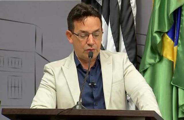 Justiça acatou denúncia contra o vereador de Araçatuba (SP) Cido Saraiva (MDB) (Foto: Reprodução/TV TEM)