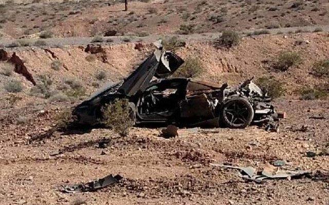 McLaren 720S encontrada no deserto de Nevada (Foto: Reprodução/NHP Southern Command).
