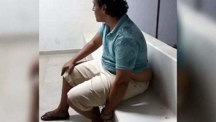 Acusado foi indiciado por roubo e recolhido à cadeia de Lavínia. Foto: MANOEL MESSIAS/agência