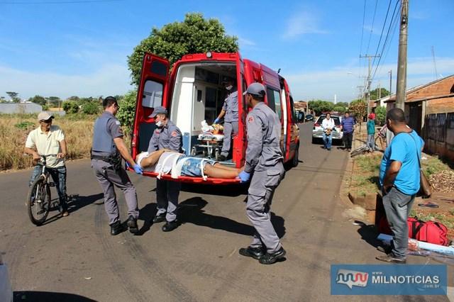 Adolescente sofreu escoriações pelo corpo e contusões na perna esquerda. Foto: MANOEL MESSIAS/Mil Noticias