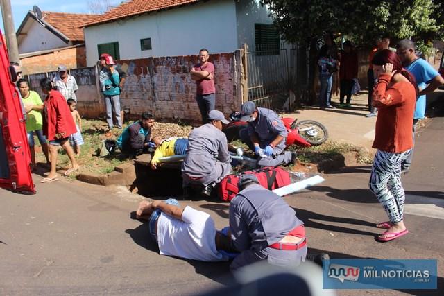 Vítimas foram arremessadas contra uma boca de lobo existente naquele cruzamento. Foto: MANOEL MESSIAS/Mil Noticias