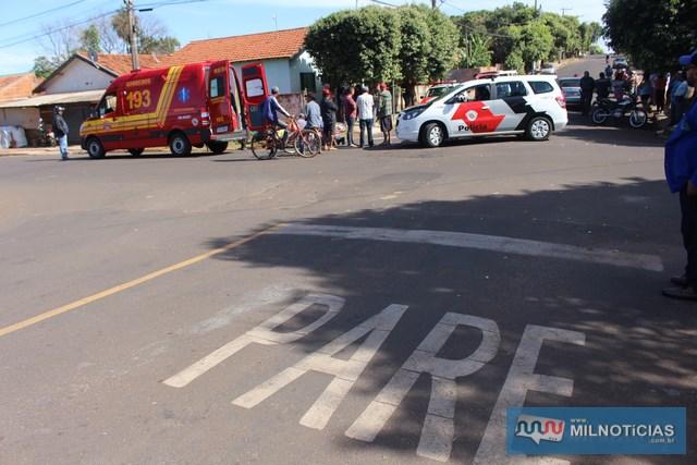 Motorista do Fiat Pálio avançou o 'PARE' existente naquele cruzamento. Foto: MANOEL MESSIAS/Mil Noticias