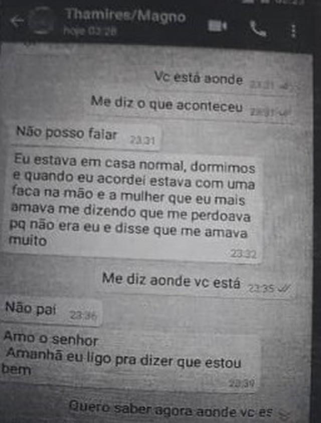 Conversa aponta que namorado pode ter assassinado Thamiris e as filhas (Foto: Divulgação/Polícia Civil)